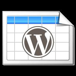 TablePress for Wordpress